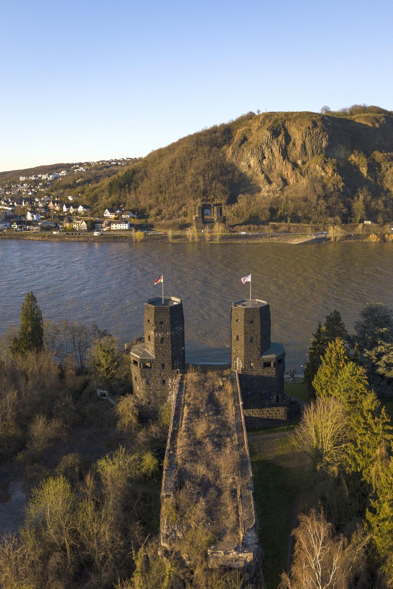 Luftbildfotografie Brücke von Remagen